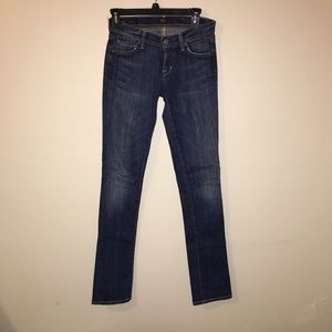 Low waist straight leg citizens of humanity jeans